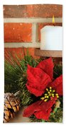 Christmas Candle Beach Towel by Kenneth Sponsler