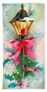 Christmas Candle Beach Towel