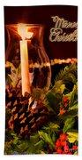 Christmas Card Digital Paint Beach Towel
