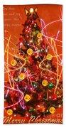Christmas Card Beach Towel