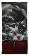 Christmas Companions Beach Towel by Cynthia House