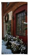 Christmas Decorations In Grants Pass Old Town  Beach Towel