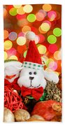Christmas Dog Beach Towel