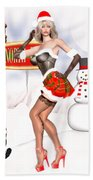 Christmas Elf Cleo Beach Towel