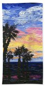 Christmas Eve In Redondo Beach Beach Towel