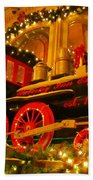 Christmas Express Beach Towel