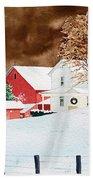 Christmas Farm Beach Towel