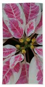 Christmas Floral Beach Towel