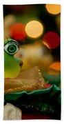 Christmas Frog Beach Towel