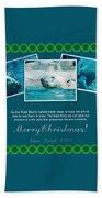 Christmas Greetings Beach Towel