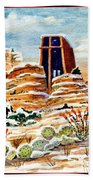 Christmas In Sedona Beach Towel