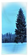 Christmas In The Valley Beach Towel