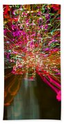 Exploding   Lights  Beach Towel