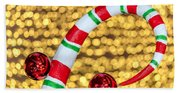 Christmas Lights Beach Towel