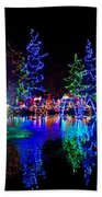 Christmas Lights Beach Towel