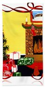 Christmas - Memories - Ribbons - Bows Beach Towel