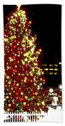Christmas On Public Square Three Beach Towel