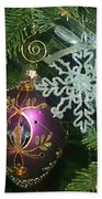 Christmas Ornaments 2 Beach Towel