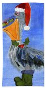 Christmas Pelican Beach Towel
