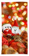 Christmas Penguin Beach Towel