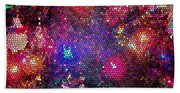 Christmas Stained Glass  Beach Towel