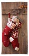 Christmas Stockings Beach Towel