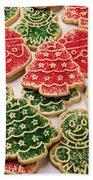 Christmas Sugar Cookies Beach Towel