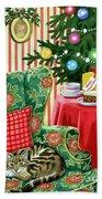 Christmas Tea Beach Towel