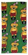 Christmas Teddies Beach Towel
