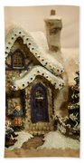 Christmas Toy Village Beach Towel