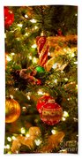 Christmas Tree Background Beach Towel