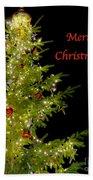 Christmas Tree Lighting Beach Towel