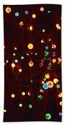 Christmas Tree Lights Beach Towel