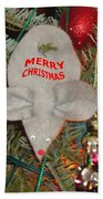 Christmas Tree Mouse Beach Towel