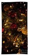 Christmas Tree Ornaments 3 Beach Towel