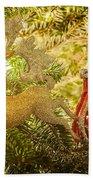 Christmas Tree Ornaments Beach Towel