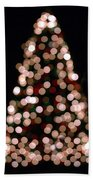 Christmas Tree Out Of Focus Beach Towel