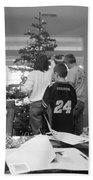 Christmas Tree Prep Beach Towel