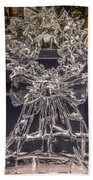 Christmas Wreath Ice Sculpture Beach Towel