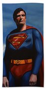 Christopher Reeve As Superman Beach Towel