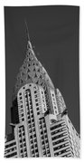 Chrysler Building Bw Beach Towel
