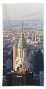 Chrysler Building From The Empire State Building Beach Towel