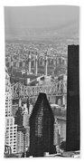 Chrysler Building New York Black And White Beach Towel