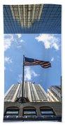 Chrysler Building Reflections Horizontal Beach Towel