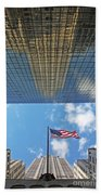 Chrysler Building Reflections Vertical 2 Beach Towel