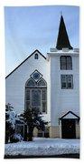 Paramus Nj - Church And Steeplechurch And Steeple Beach Towel