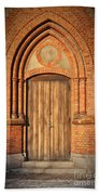 Church Door Helsingborg Beach Towel