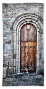 Church Door Killala Ireland Beach Sheet