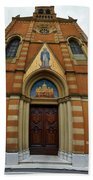 Church Entrance. Palazzolo Beach Towel
