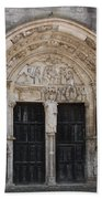 Church Entrance - St  Thibault Beach Towel